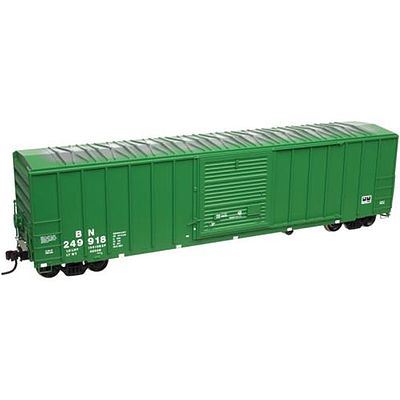 Atlas FMC 5077 Single Door Boxcar Burlington Northern -- N Scale Model Train Freight Car -- #50002411