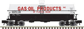 Atlas 11,000-Gallon Tank Car Gas-Oil Products #201 N Scale Model Train Freight Car #50002634
