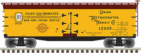 Atlas 40 Wood Reefer Pacific Cooperative #12242 N Scale Model Train Freight Car #50002682