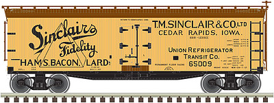 Atlas 40' Wood Reefer SINC #65005 -- N Scale Model Train Freight Car -- #50002683