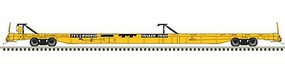 Atlas ACF 89 F89-J Flatcar - Ready to Run Trailer-Train #600999 (1970s yellow) - N-Scale