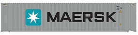 Atlas 45 Corrugated Container 3-Pack - Assembled Maersk Set 1 (gray, white, blue, Billboard Lettering) - N-Scale