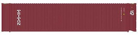Atlas 45 Corrugated Container 3-Pack - Assembled Triton Set 1 (red) - N-Scale