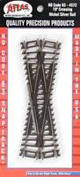 Atlas Code 83 19 Degree Crossing HO Scale Nickel Silver Model Train Track #572