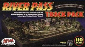 Atlas River Pass Track Pack Includes Code 83 HO Scale Nickel Silver Model Train Track #578
