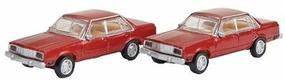 Atlas 1978 Ford Fairmont Sedan Burgundy (2) N Scale Model Railroad Vehicle #60000019