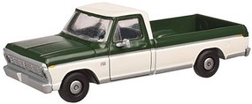 Atlas 1973 Ford F-100 Pickup Truck 2-Pack - Assembled Mallard Green, Wimbledon White - N-Scale