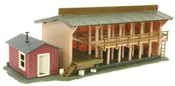Atlas Lumber Yard & Office Built-Up HO Scale Model Railroad Building #650