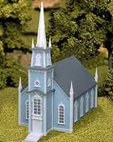 Atlas Colonial Church Kit HO Scale Model Railroad Building #708