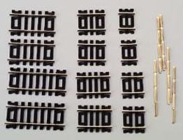Atlas Code 100 Straight Track Astd N/S (12) HO Scale Nickel Silver Model Train Track #847