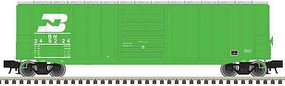 Atlas-O Trainman(R) ACF 506 Boxcar - 2-Rail - Ready to Run Burlington Northern (green, Logo & Stripe Above Reporting Marks) - O-Scale