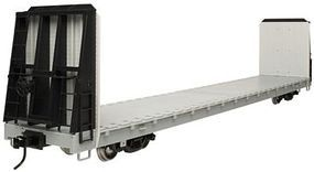 Atlas-O 62 Bulkhead Flatcar - 2-Rail Undecorated O Scale Model Train Freight Car #2001750