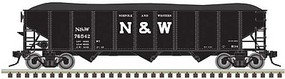 Atlas-O AAR 70-Ton 9-Panel 3-Bay Open Hopper with Load - 3-Rail - Ready to Run Norfolk & Western (black, Block N&W) - O-Scale