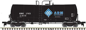 Atlas-O 17,600-Gallon Corn Syrup Tank Car - 2-Rail Ready to Run - Master(R) Archer-Daniels-Midland (black, blue, Molecule Logo) - O-Scale