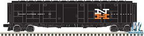 Atlas-O Express Boxcar (Rebuilt Troop Sleeper) - 3-Rail - Ready to Run New Haven (black, white, red, Large NH) - O-Scale