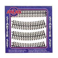 Atlas-O Nickel Silver Rail 3-Rail - Starter Set O Scale Model Railroad Track #6001