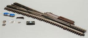Atlas-O 3 Rail - #5 Turnout Lefthand O Scale Nickel Silver Model Train Track #6024