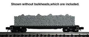 Atlas-O Pulpwood Flatcar, 3-Rail, Assembled - Undecorated O Scale Model Train Freight Car #6270