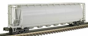 Atlas-O 6-Bay Cylindrical Covered Hopper - 3-Rail - Undecorated O Scale Model Train Freight Car #6330