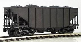 Atlas-O 55-Ton Fishbelly 2-Bay Open Hopper 3-Rail Undecorated O Scale Model Train Freight Car #6750