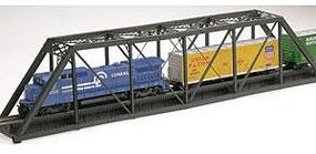 Atlas-O Single Track Pratt Truss Bridge Kit - 3 Rail O Scale Model Railroad Bridge #6920