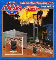Atlas-O Operating 3-and 2-Rail Switch (Dwarf) Signal O Scale Model Railroad Trackside Accessory #6931