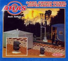 Atlas-O Switch Signal - Dwarf w/Red & Green Aspects O Scale Model Railroad Trackside Accessory #6935