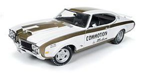 AutoWorldDiecast 1969 Oldsmobile Cutlass Hurst Diecast Model Car 1/18 Scale #1034