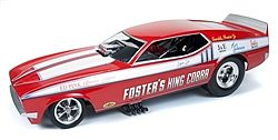 Auto World Diecast 1972 Fosters King Cobra Mustang -- Diecast Model Car -- 1/18 Scale -- #1117