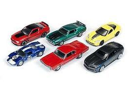 AutoWorldDiecast AutoWorld Diecast Set (6 Cars) Diecast Model Car 1/64 Scale #64003a