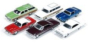 AutoWorldDiecast AutoWorld Diecast Set (6 Cars) Diecast Model Car 1/64 Scale #64012a