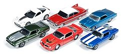 Auto World Diecast AutoWorld Diecast Set (6 Cars) -- Diecast Model Car -- 1/64 Scale -- #64013a