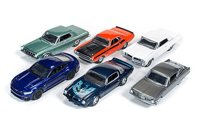 Auto World Diecast AutoWorld Diecast Set (6 Cars) -- Diecast Model Car -- 1/64 Scale -- #64032b