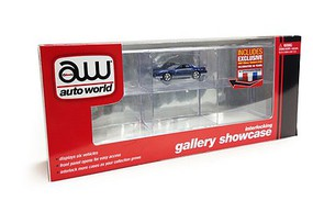 Auto-World 1/64 Six-Car Interlocking Display Showcase w/Mirror Back & One Car