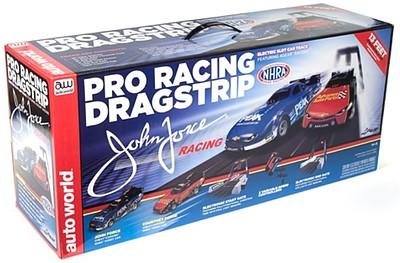 Auto World Racing HO 2017 Chevy Camaro John & Courtney Force NHRA Pro Drag Slot Car 13' Racing Set