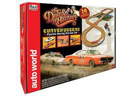 Auto-World Dukes of Hazard Race Set 10 HO Scale Slot Car Set #rs259