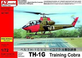 AZ TH1G Training Cobra Helicopter Plastic Model Helicopter Kit 1/72 Scale #7451