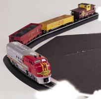Bachmann Santa Fe Flyer Set HO Scale Model Train Set #00647