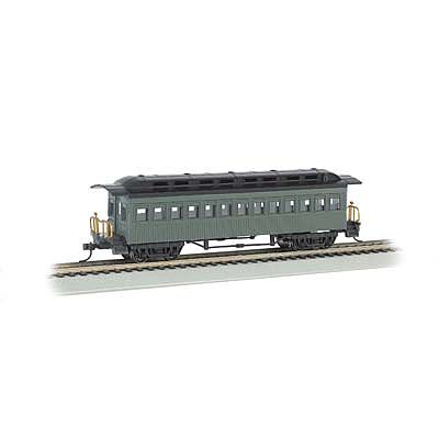 Bachmann 1860-1880 Coach Painted/Unlettered Green -- HO Scale Model Train Passenger Car -- #13405