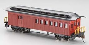 Bachmann 1860-1880 Combine Painted Unlettered HO Scale Model Train Passenger Car #13502