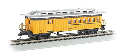 Bachmann 1860-1880 Combine Durango/Silverton #213 -- HO Scale Model Train Passenger Car -- #13504