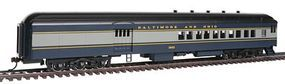 Bachmann 72 Heavyweight Combine B&O #1443 HO Scale Model Train Passenger Car #13602