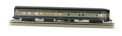 Bachmann 85' Smooth-Side Observation Baltimore & Ohio -- HO Scale Model Train Passenger Car -- #14303