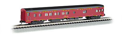 Bachmann 85' Smooth-Side Observation w/Int Light N&W -- N Scale Model Train Passenger Car -- #14352