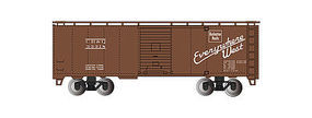 Bachmann 40 Steam Era Boxcar Burlington HO Scale Model Train Freight Car #15003