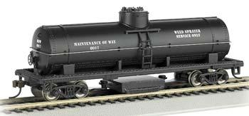 Bachmann Track Cleaning Tank Car MOW -- HO Scale Model Train Freight Car -- #16301