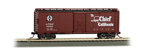 Bachmann 40 Boxcar Santa Fe Super Chief HO Scale Model Train Freight Car #16501