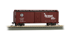 Bachmann 40 Boxcar Santa Fe Scout HO Scale Model Train Freight Car #16502