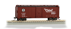 Bachmann 40 MAP Chief Box Car Santa Fe HO Scale Model Train Freight Car #16505