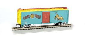 Bachmann Ringling Bros. PS1 40 Box Car Tiger #17 HO Scale Model Train Freight Car #16604